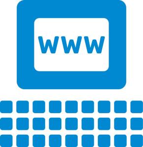computer blue