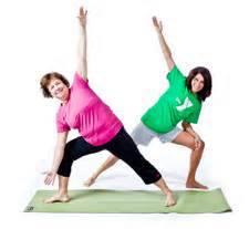 two women aerobics